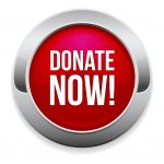 Round Donate Now Button with Red and Chrome